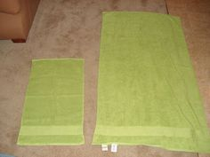 How to make a hooded towel. Makes a great baby shower gift.