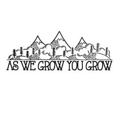 drawings- as we grow you grow mountains and hills- David Rollyn