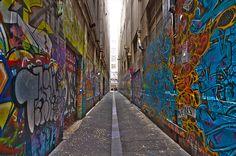 Melbourne Lane (mywallprints.co.nz)