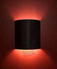 Theater Wall Sconce With Plain Black Face