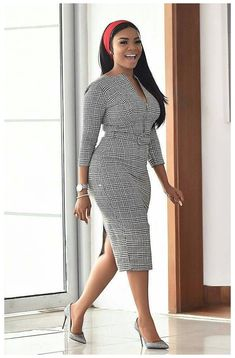 Classy Work Outfits, Classy Dress, Chic Outfits, Fashion Outfits, Dress Outfits, Classy Lady, Classy Chic, Office Dresses For Women, Office Outfits Women