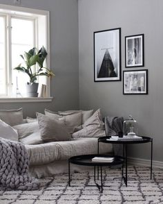 Industrial Interior Design Living Room Ideas for Home Improvement - - Soft grey. Industrial Interior Design Living Room Ideas for Home Improvement – – Soft greys for a living Living Room Goals, Living Room Decor, Bedroom Decor, Industrial Interior Design, Beautiful Interior Design, Living Tv, Home And Living, Interior Design Living Room, Living Room Designs