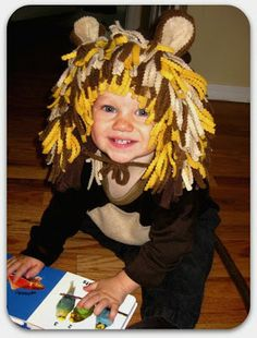 Our family is going with old school Circus-y themed costumes for Ou0027s birthday Halloween party and I knew from the start that JD would b.  sc 1 st  Pinterest & Easy No-Sew Kids Lion Halloween Costume | Pinterest | Halloween ...
