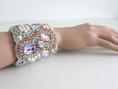 Alice in Wonderland Cuff Bracelet Wedding Cuff by AlixHDesigns