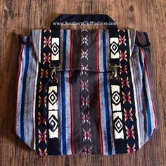 Southern Girl Fashion Bags - TRIBAL BACKPACK Embroidered Patchwork Big Book Bag - available #forsale in my #poshmark closet - #wiw #chic #love #shopping #ootd #shopmycloset #SouthernGirlFashion