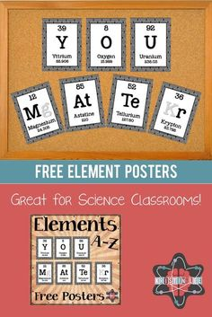 Popcorn periodic table of elements spelling pinterest free set of posters that spell out the phrase you matter using periodic table urtaz Choice Image