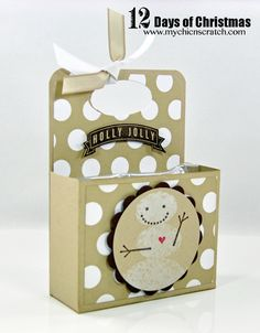 Snowman Soup Box (holds hot chocolate ingredients) ...will be a cute candy holder too :)
