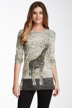 Go Couture Front Graphic Burnout Tee by Go Couture on @HauteLook
