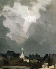 In Amsterdam, nd. 24x20. Oil on canvas. Robert Henri.