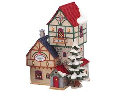 Lemax Enchanted Forest Christmas Old Red Barn Fiber Optic Bisque ...