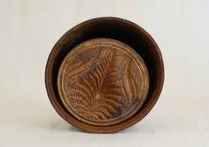Primitive Antique Wood Butter Mold - Carved Pineapple Design - Large Size. $45.00, via Etsy.