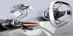 Peugeot Fractal Concept, 2015 - Interior Design Sketch
