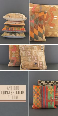 Antique Turkish Kilim Pillow via Magpie Fields