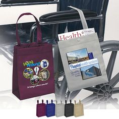 Hang around bag has many useful uses. Great for car dealership service centers to hand out when people leave their cars for service to put all their valuables in to take with them. Use it and take it to sporting events, concerts and the beach to hang on the chair to keep your things safe. Great bag for nursing homes, senior centers and the elderly to attach to wheelchairs, walkers and more.  Size is 8 x 10 x 4. Great hospital gift for patients to attach to bed, walkers and more.