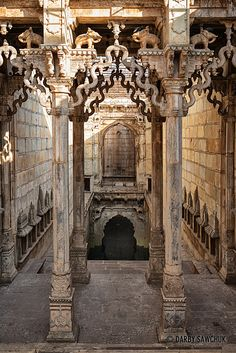 Inside the Raniji ki Baori, also known as the Queen's Stepwell in Bundi, Rajasthan