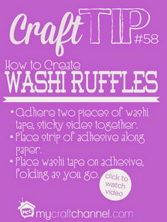 May 22nd: Washi Tape Ruffles