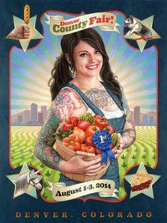Denver County Fair - I love this ad campaign! Tattoos, nerddom, farming...