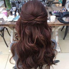 Wedding hair half up half down - #hair #Wedding