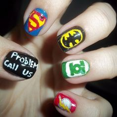 Justice League & other cute nail ideas!