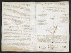 f. 76v, displayed as an open bifolium with f. 75: notes and diagrams
