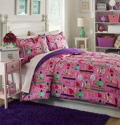 Features:  -Set includes comforter and 2 shams.  Product Type: -Comforter/Comforter set.  Style: -Childrens.  Color: -Multi.  Pattern: -Novelty.  Material: -Polyester.  Number of Items Included: -3.
