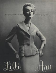 Lilli Ann advertisement from Vogue (February, 1961)