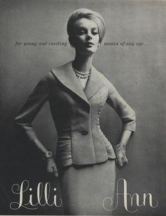 Lilli Ann advertisement from Vogue (February, 1961)