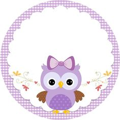 Convite Adesivo Quadrado Adesivo redondo Bala Personalizada Rótulo Bis (Frente) Co. Free Printable Banner, Free Printable Invitations, Free Printables, Owl Labels, Candy Bar Labels, Quinceanera Themes, Purple Owl, Freebies, Owl Art