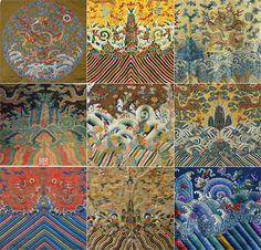"""海水江崖纹是中国的一种传统纹样,俗称""""江牙海水""""""""海水江牙"""",是常饰于古代龙袍、官服下摆的吉祥纹样。"""
