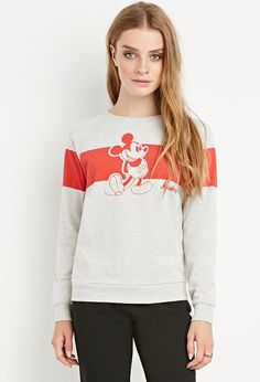 Heathered Mickey Mouse Sweatshirt - Jumpers + Cardigans - 2000179098 - Forever 21 EU English