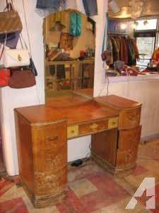 White Shabby Vintage Vanity Dresser with Mirror - $595 (Pasadena ...