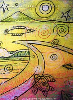 """Mike """"Nemo"""" Nemnich is a self-taught surf inspire artist who has been involved in one form of art or another as far back as he can remember. He is aslo known in the surfing world as """"Nemo""""."""