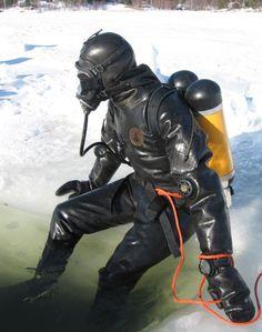 "irelandbiker: "" guysinrubberdrysuits: "" Rubber Divers & Drysuits from the Web 1345 "" """