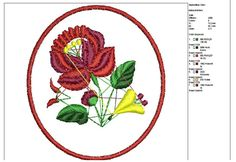 Hungarian folk motifs: flowers Kalocsa--pattern--machine embroidery--Instant Download by tagi74 on Etsy