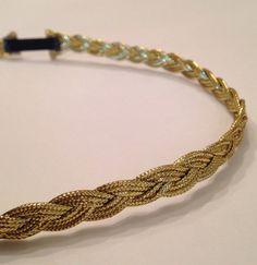 MicroBoho Grecian gold headband