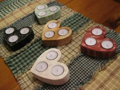 Your place to buy and sell all things handmade - adventskranz ideen Tea Light Candles, Tea Lights, Woodworking Candle Holder, Magnolia Home Decor, Pinterest Diy Crafts, Concrete Candle Holders, Ceramic Coffee Cups, Candle Stand, Wood Creations