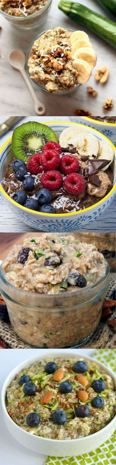 4 Ways to Make Zucchini 'Zoats' the Hot Breakfast Trend of Summer Eat your greens earlier in the day with these delicious nutrient-packed zucchini oats recipes Healthcom Click the image for more info. Healthy Summer Recipes, Delicious Breakfast Recipes, Healthy Snacks, Yummy Food, Healthy Breakfasts, Healthy Eating, Oats Recipes, Snack Recipes, Cooking Recipes