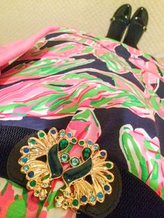 Lilly Pulitzer Palmetto Dress In the Vias print. Spring 2015. Peacock Belt.