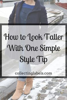 One easy way to look taller without heels | collectinglabels.com