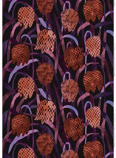 >Reeta Ek for Marimekko 'Gerda' fabric design. One colourway. Textures And Tones, Textures Patterns, Print Patterns, Modern Patterns, Textile Design, Fabric Design, Pattern Design, Copenhagen Design, Marimekko Fabric