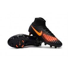Nike Magista obra II FG Bright Mango Black cheap football shoes ad1f4726a358f