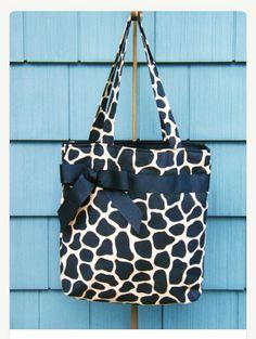 Giraffe Print Tote