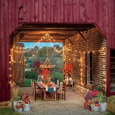 Let The South's Most Beautiful #Outdoor Rooms Inspire You To Create Your Own Cozy Retreat For Fall. -SouthernLiving #OutdoorSpaces