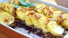 Zapečená cuketa s mozzarelou – RECETIMA Czech Recipes, Ethnic Recipes, Cheesesteak, Potato Salad, Grains, Pork, Rice, Potatoes, Treats