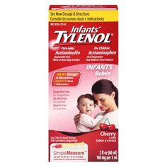 Tylenol Pain Reliever and Fever Reducer Cherry Drops for Infants - 2 oz