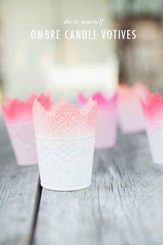 Skurar candle holders are even prettier when your make them ombre.