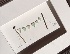 Sea glass bunting by sharon nowlan by PebbleArt on Etsy