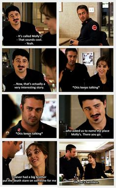 Severide, Katie and Otis... loved this part! So funny!