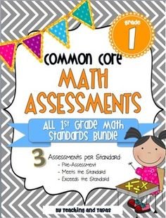 1st Grade Common Core Math Assessment - ALL STANDARDS  ($)