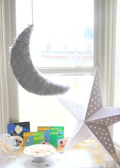 moon and stars baby shower decor